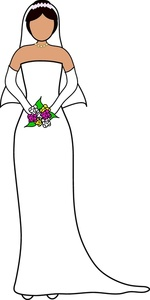 Bride clipart married woman. Free image computer standing