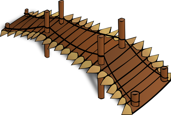 Bridge clip art png. Wooden at clker com