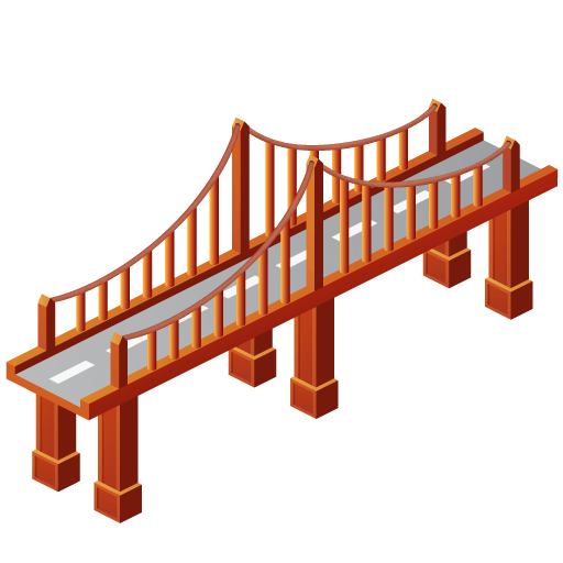 Bridge clipart. Transparent png stickpng