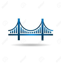 Bridge clipart icon. Golden gates graphic signs