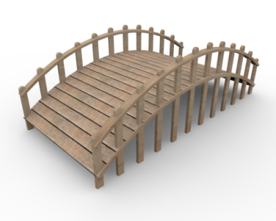 bridge clipart wooden bridge