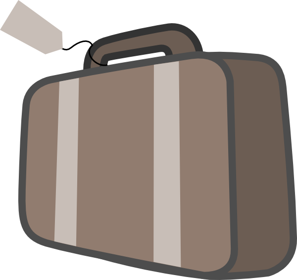 Bag luggage travel clip. Briefcase cartoon png clipart stock