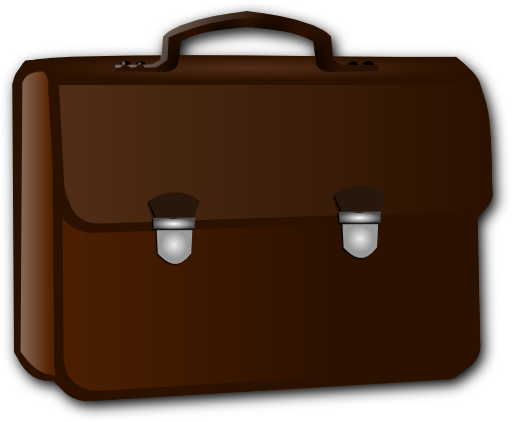 Clipart iclipart royalty free. Briefcase cartoon png picture black and white