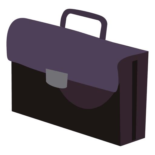 Cartoon briefcase png. Office bag icon transparent