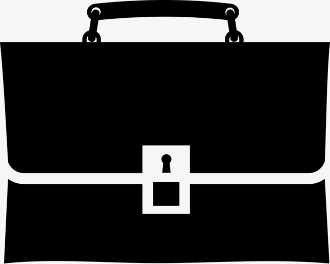 Briefcase clipart black and white. Handbag png image for