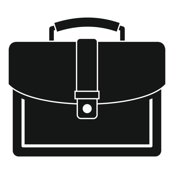 Briefcase clipart black and white. Royalty free clip art