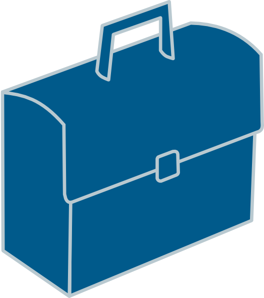 Briefcase clipart blue. Clip art at clker