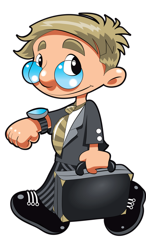 Briefcase clipart cartoon. German girl png occupations