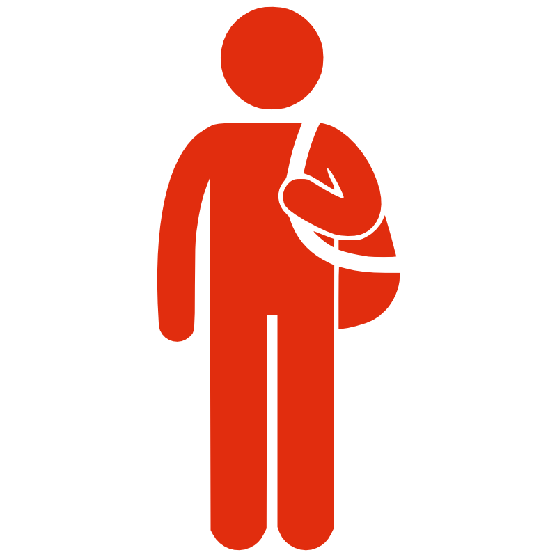 Briefcase clipart man. Silhouette with bag clip