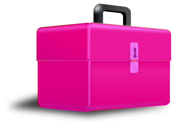 Briefcase clipart pink. Toolbox clip art at