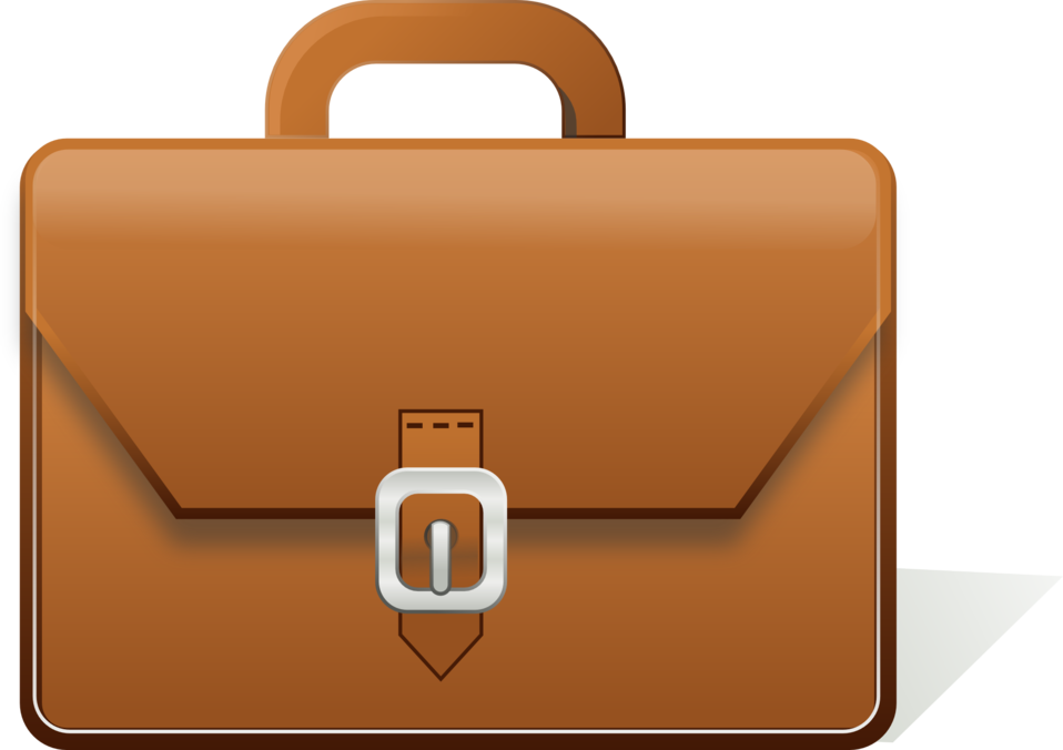 Briefcase clipart portfolio. Open black and