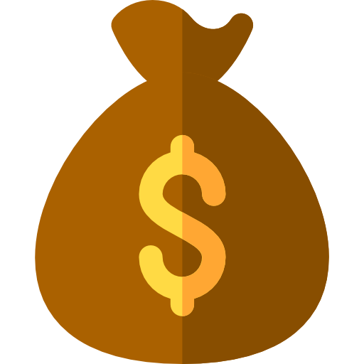 Dollar signs png. Money bag finance and