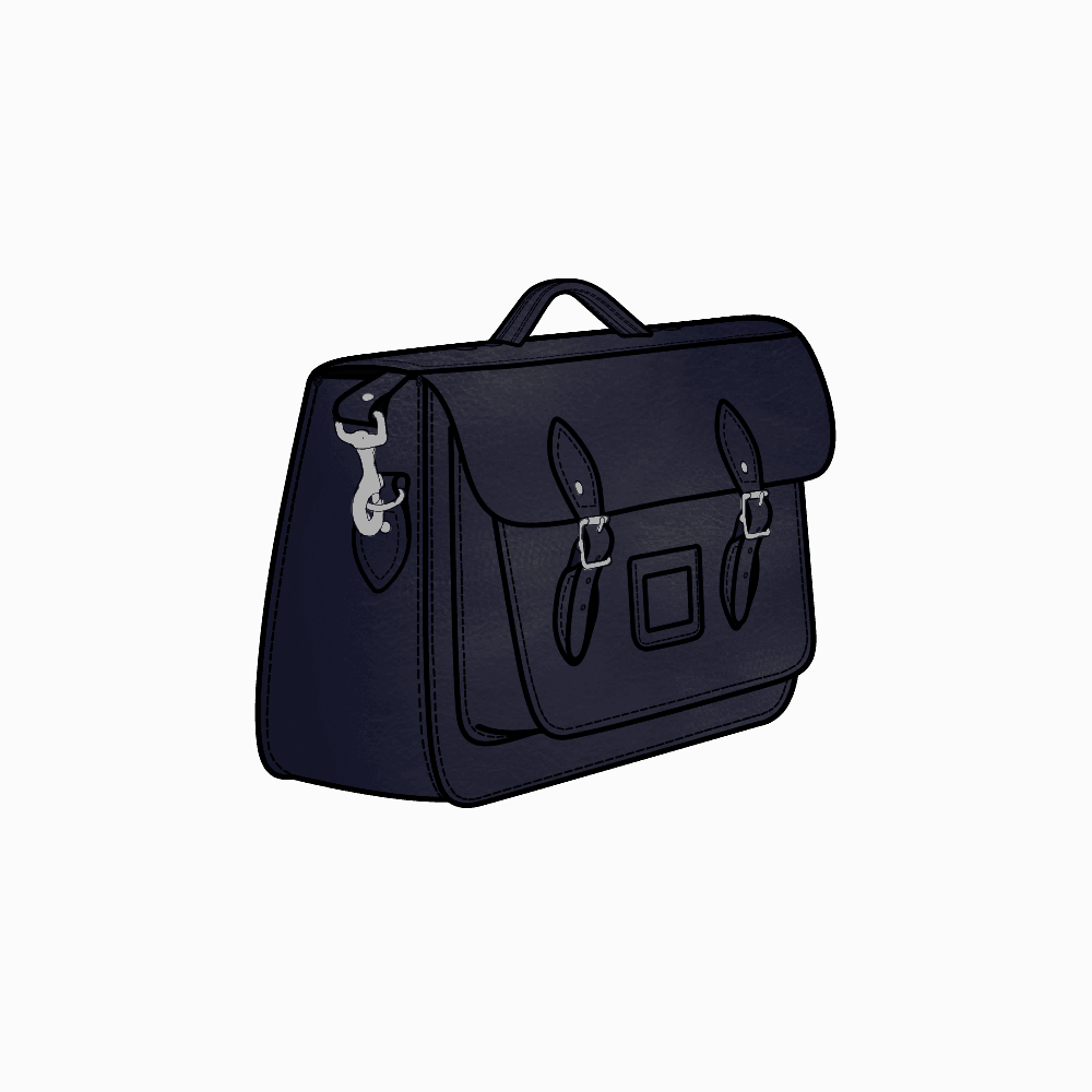 Briefcase transparent black and white. Inch satchel in