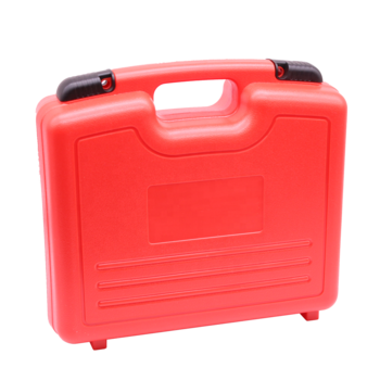 Briefcase transparent clear plastic. Custom colour handle carrying