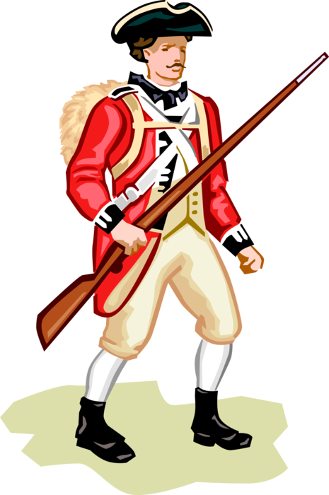 British soldier png. American revolution vector image