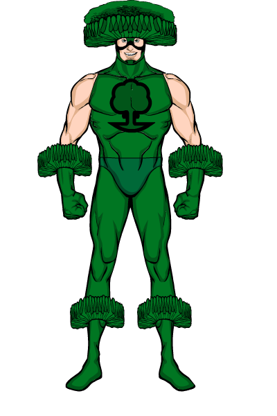 Broccoli clipart superhero. Forgetmenot funny