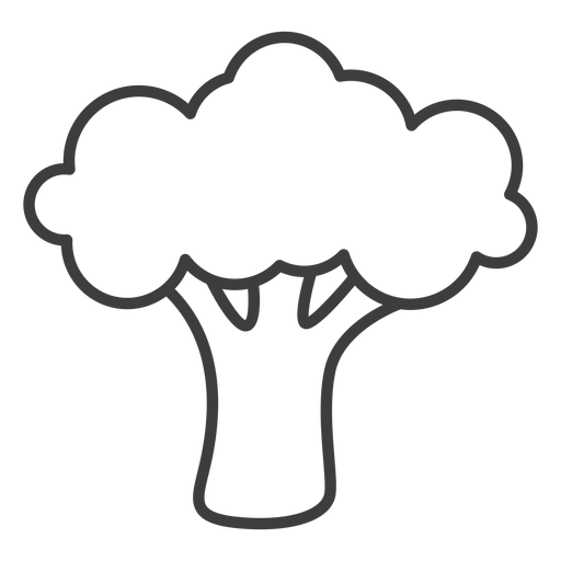 Broccoli clipart vector. Stroke icon transparent png