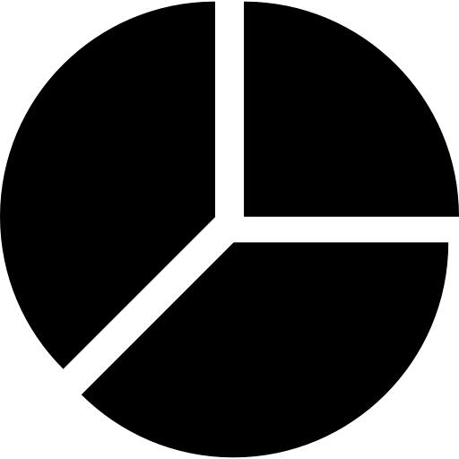 Brochure vector chart. Pie divided in three