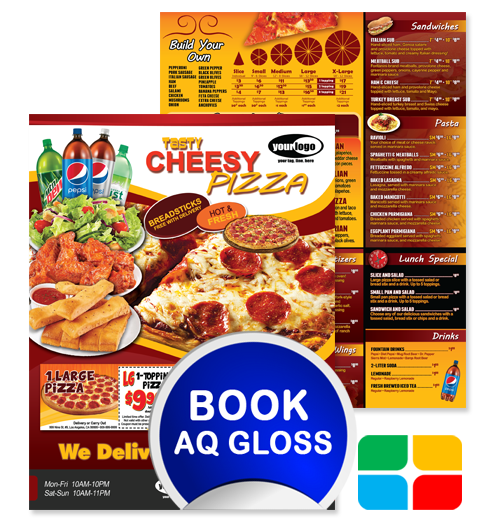 Brochure vector pizza. Flyers lunch special solid