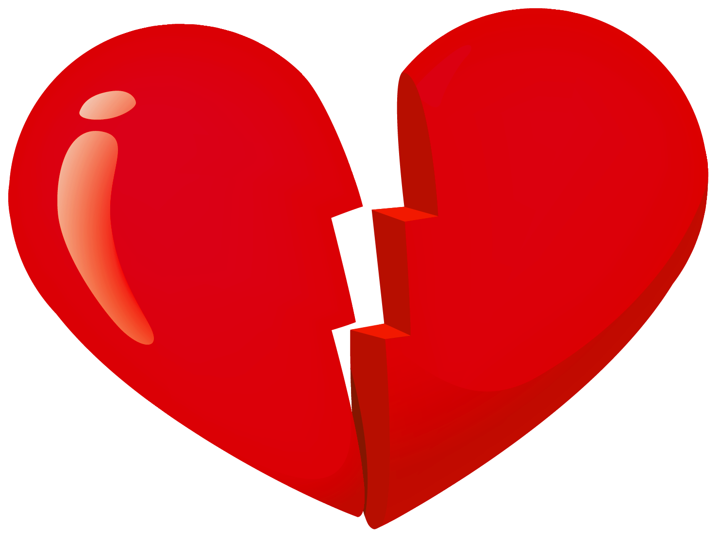 Broken clipart. Valentine red heart png