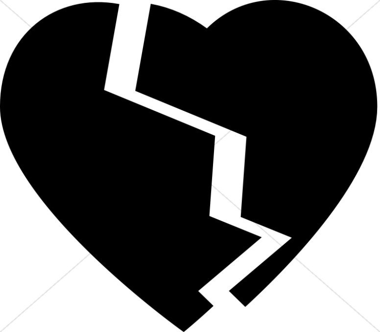 Broken clipart. Heart christian