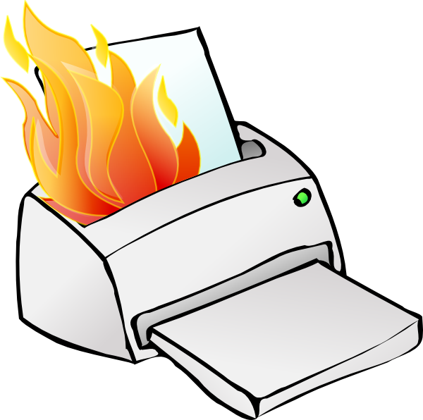 Broken clipart. Printer