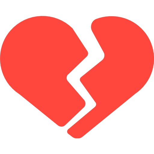 Facebook heart icon png. Broken emoji for email
