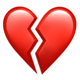 Iphone heart emoji png. Broken on apple