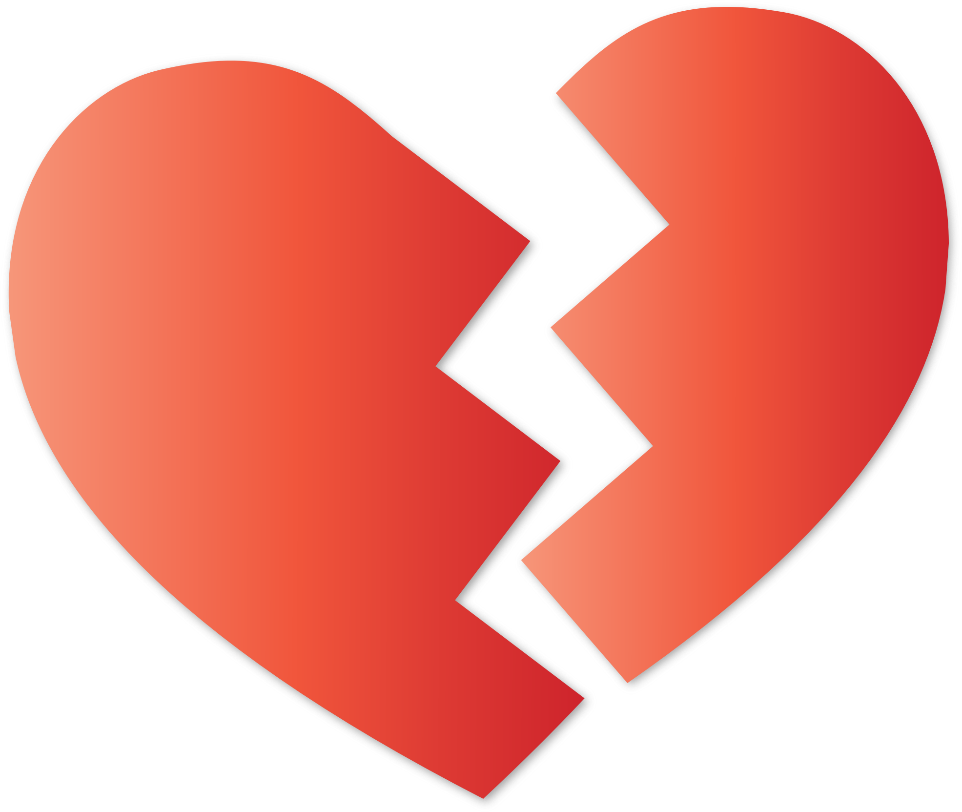 Broken heart transparent png. High quality image free