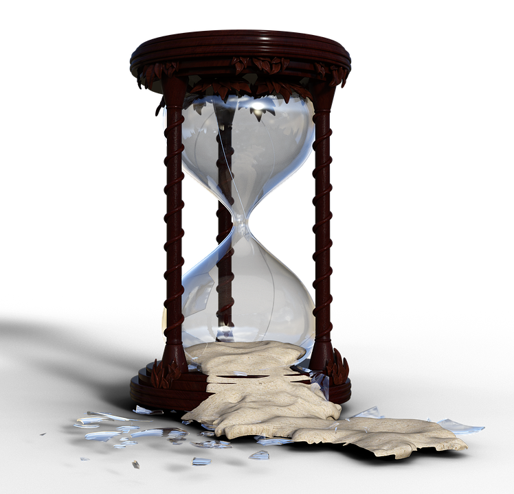 Broken hourglass png. Free photo time flow