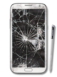 Broken note png. Galaxy glass only repair