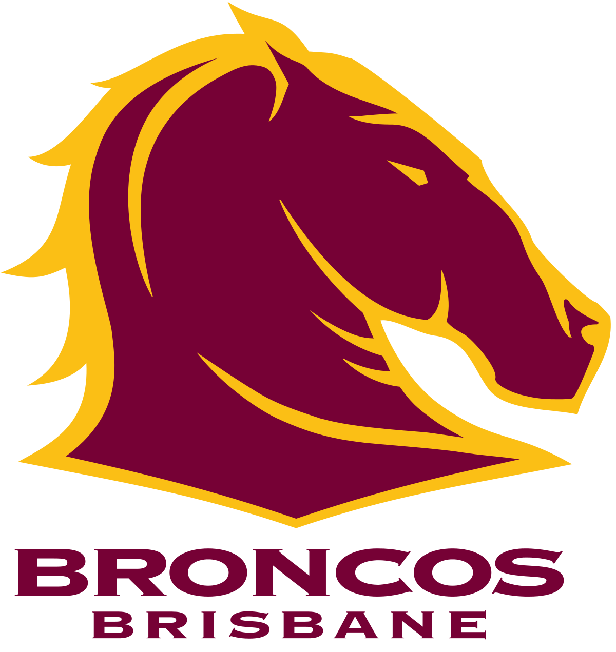 mascot drawing bronco
