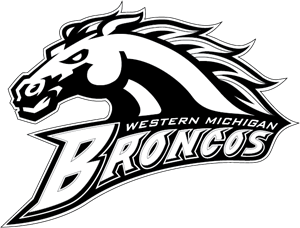 Broncos vector black and white. Western michigan logo eps