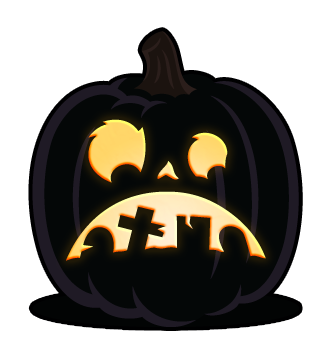 Simple faces orange and. Broncos vector pumpkin png stock