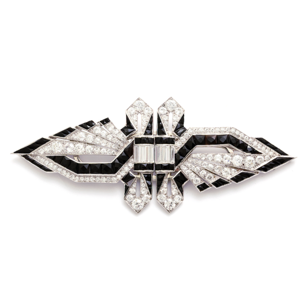 Brooch clip diamond double. A la vieille russie