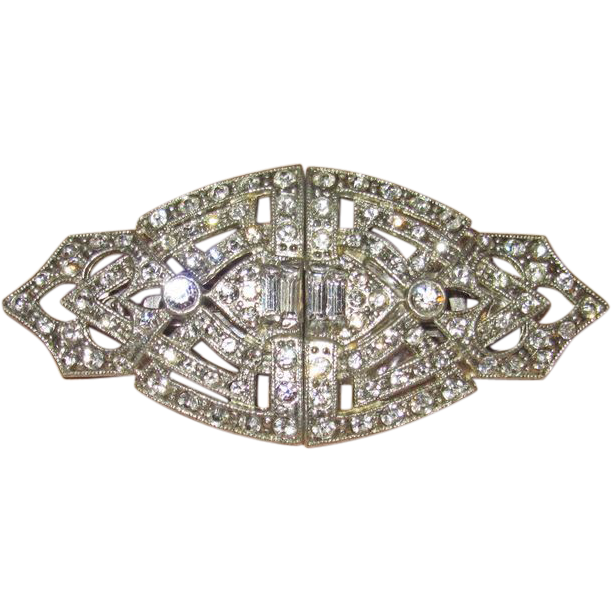 Brooch clip hinged. Coro duette dress clips
