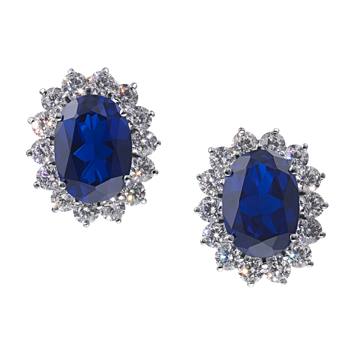 Jewelry clip tie. Catherine royal blue omega