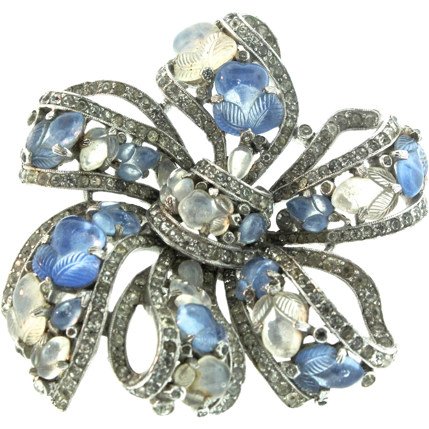 brooch clip diamond dress