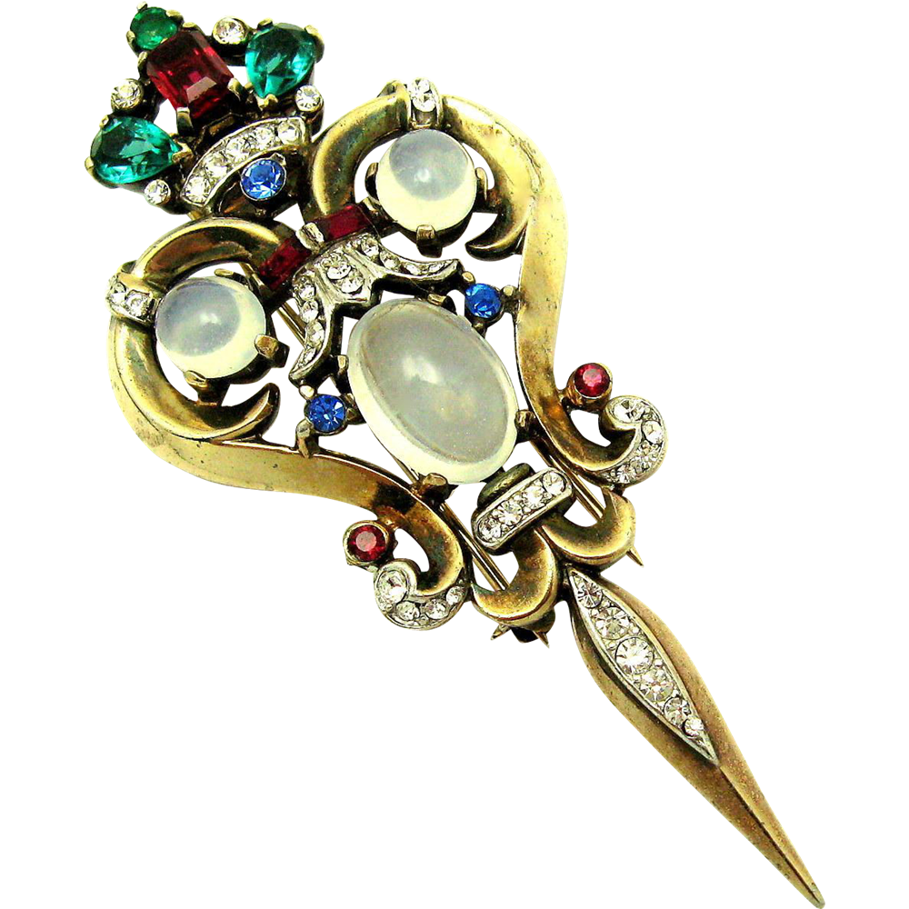 Brooch clip. Trifari a philippe sterling