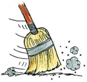 Broom clipart baseball sweep. July knuckleballs thats what