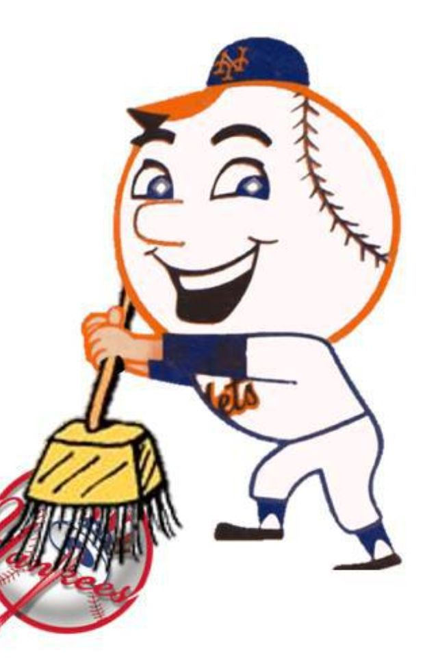Broom clipart baseball sweep. Mets yanks new york