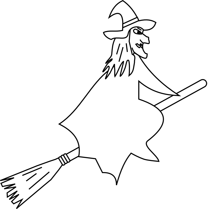 Broom clipart coloring page. Broomstick drawing at getdrawings