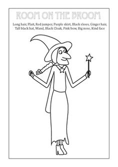 Broom clipart colouring page. Room on the color