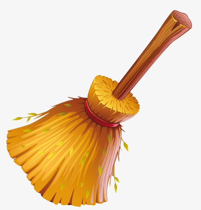 Broom clipart sweeping brush. Sweep the floor clean