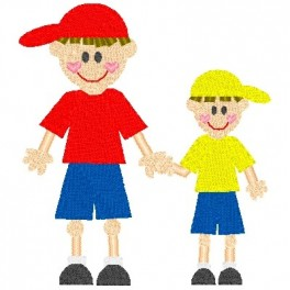 Brother clipart baby brother. Boy stick big little