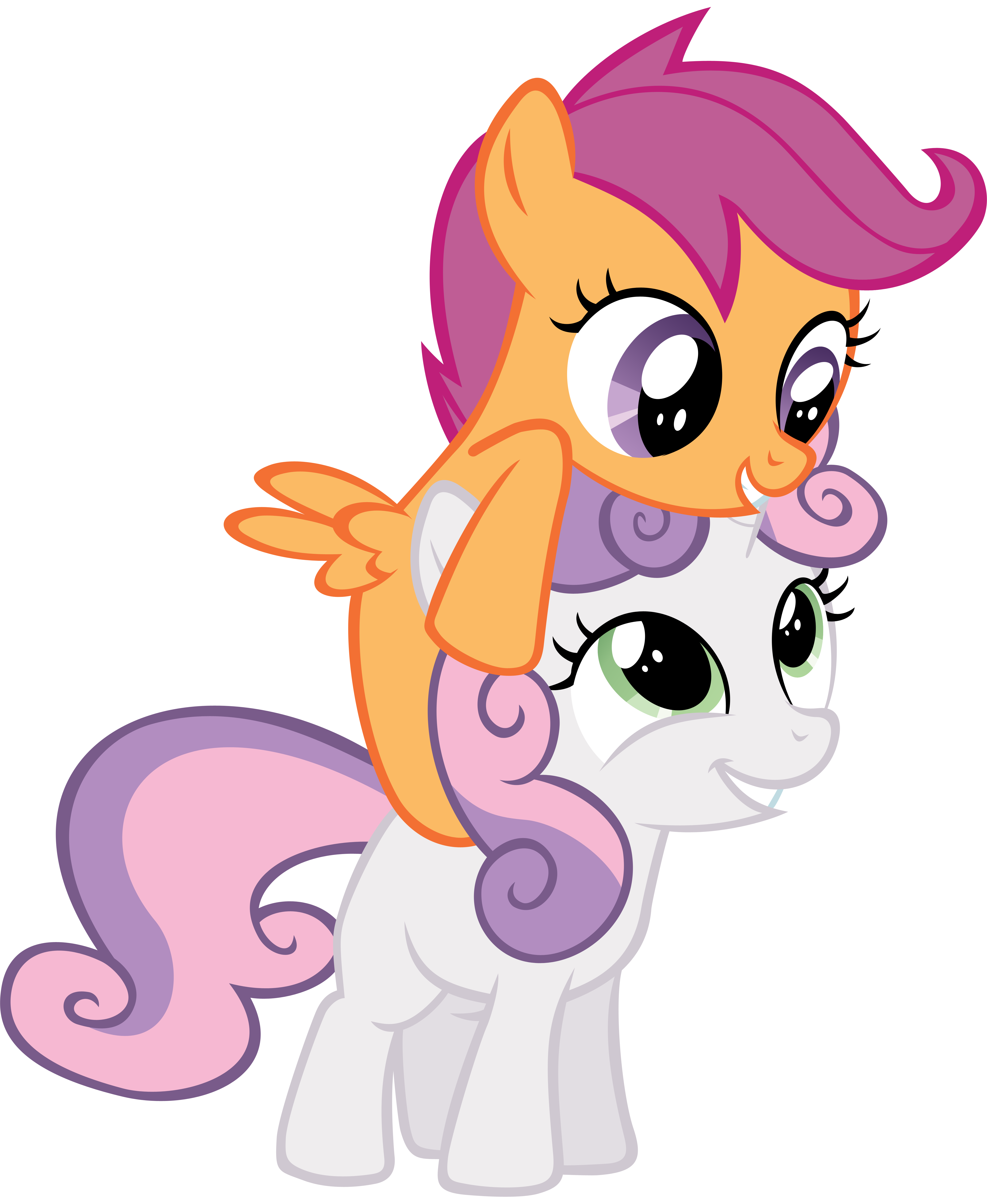 Brother clipart piggy back. Piggyback on sweetie belle