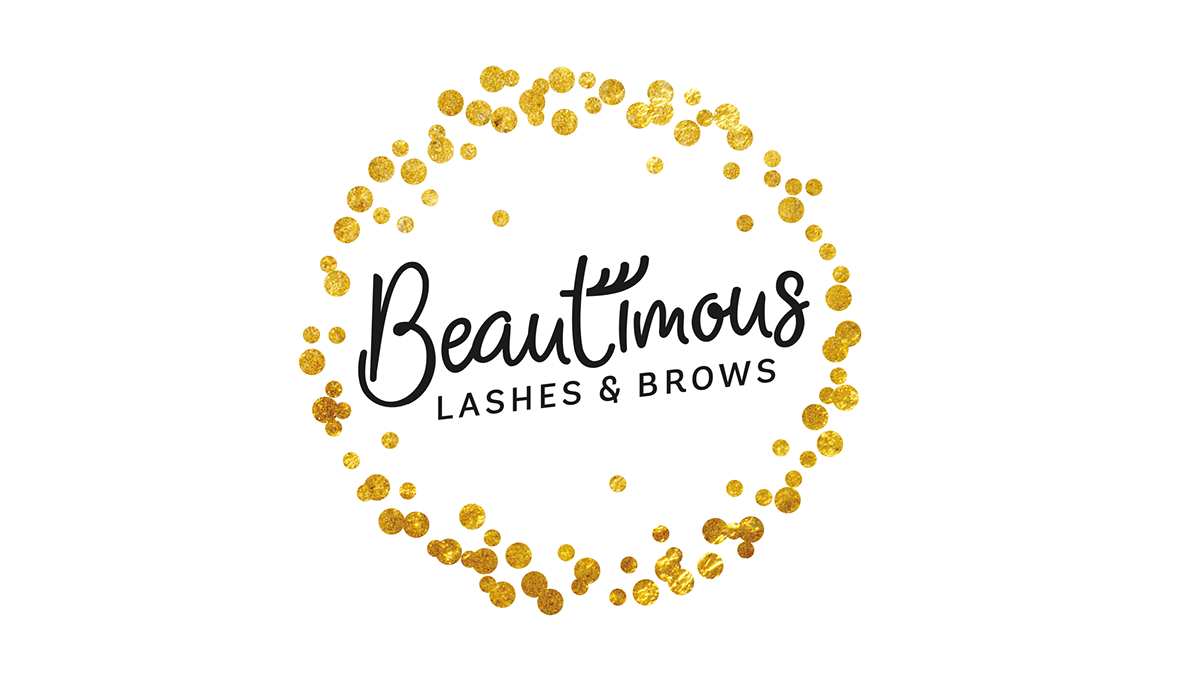 Brow and lashes template png for business cards. Beautimous brows brand identity