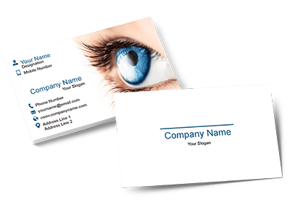 Brow and lashes template png for business cards. Create visiting card design