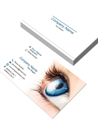 Brow and lashes template png for business cards. Double sided card templates