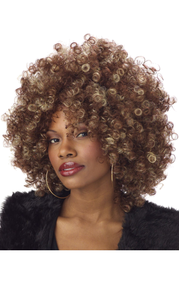 Brown afro png. Foxxy cleopatra wig accessory